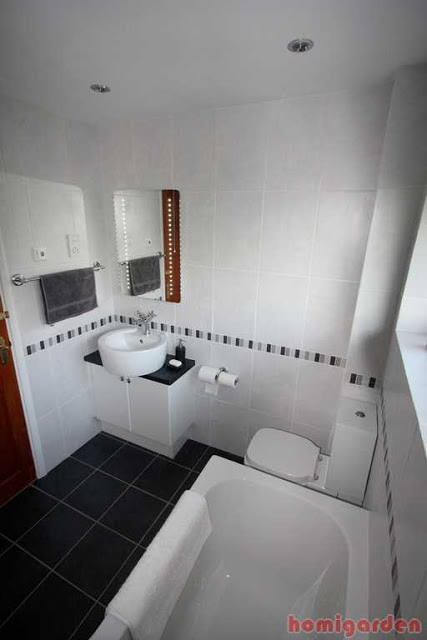 Pic of Choosing Bathroom Tile, Black and white flooring (How to Select Tile for Your Bathroom)
