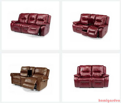 Flexsteel Leather Sofa Product Example
