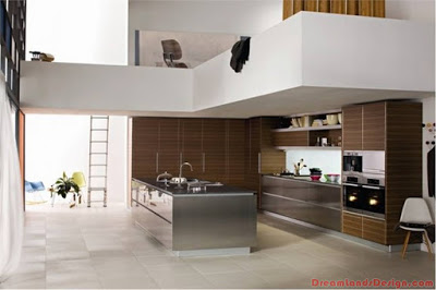 Modern Kitchen In Wooden Design Finish
