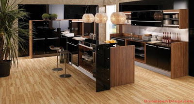 Modern Kitchen In Wooden Design