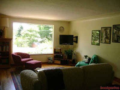 Small Living room with picture window