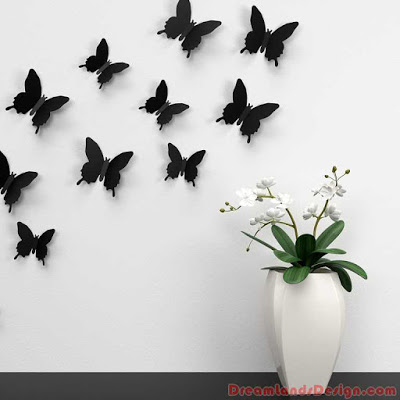 Butterfly, Wall, Decoration, Color