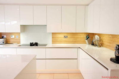 G-shaped kitchen cabinets design
