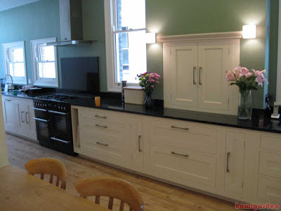 Galley kitchen cabinets