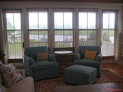 Pic of Roman bamboo window treatment ideas