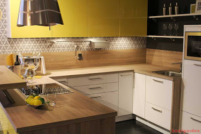 U-shaped kitchen cabinets design