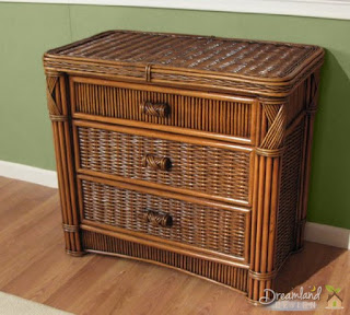 Rattan furniture cabinet