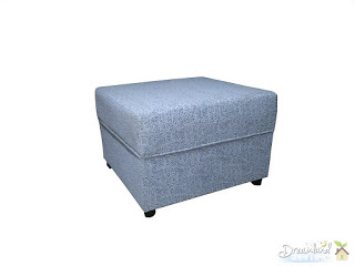 Pouffe, Ottoman, White, Furniture, Soft