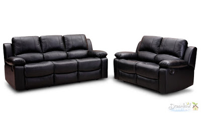 Black leather furniture sofa chair