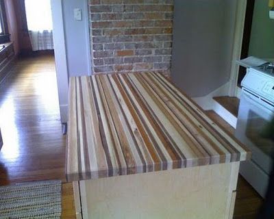 Pic of Different Woods Countertop - Cool wood projects for guys