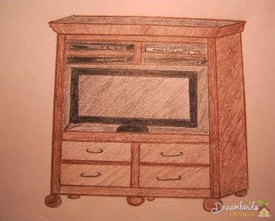 Pic of Finished DIY TV Stand Ideas or Entertainment Center Project