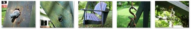 Image of Finishing Touches of Build Your Own Porch Swing for Your Front Yard Landscape Design