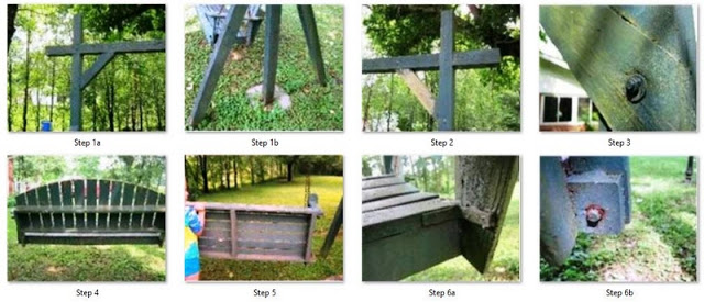 Pic of How to Build a Porch Swing Frame step 1 - 6, Front yard landscape design