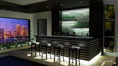 Bar stool, Home Bar - Decorating Game Room Ideas