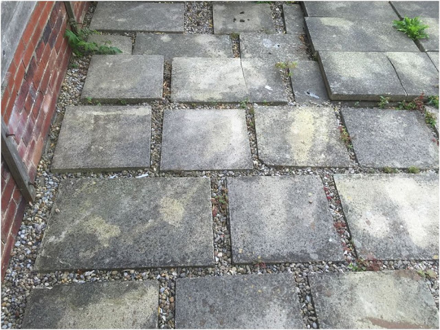 Paving Slabs and bricks for shed foundation ideas