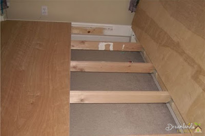 Image of Space the 4 hanger brackets, How to Build a Wooden Bed Frame Step by Step