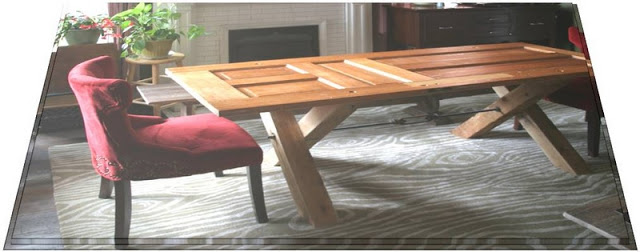 image of Door Table: Easy DIY Dining Table, How to Make a Wooden Dining Room Table