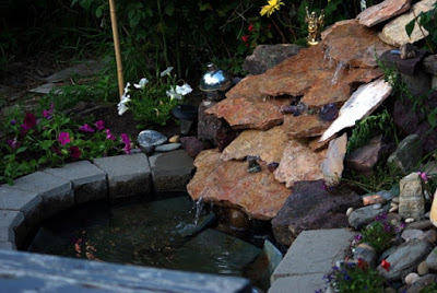 Waterfall for Water garden ideas